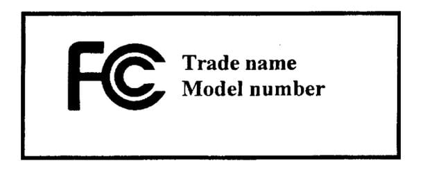 Etichettatura FCC